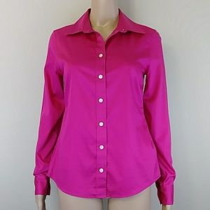[Banana Republic] Pink Non-iron Fitted Button Down